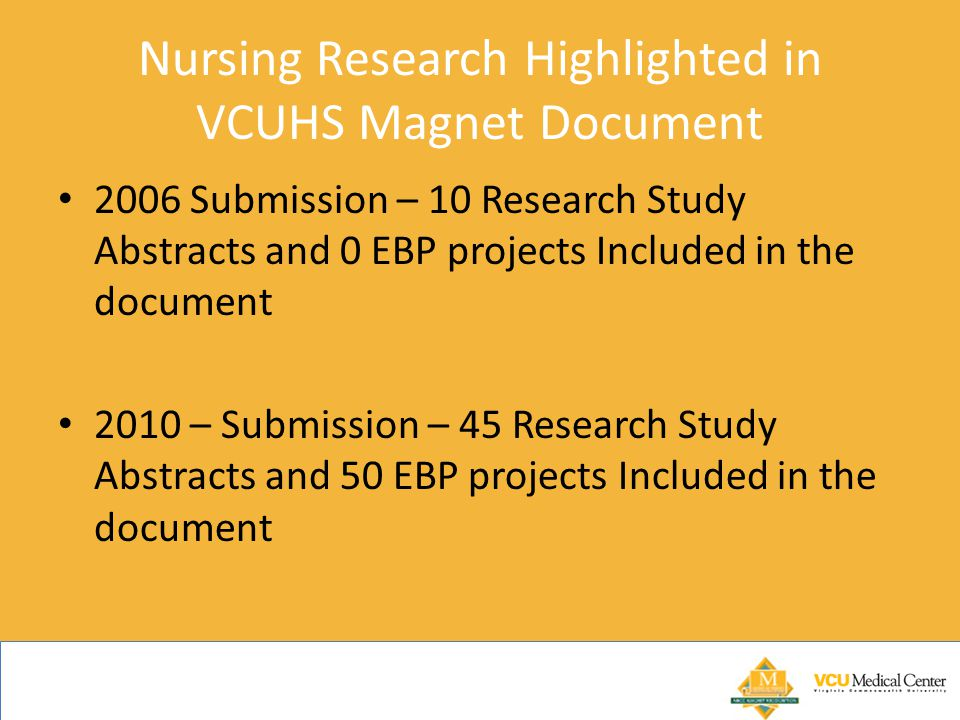 Nursing Research Highlighted in VCUHS Magnet Document