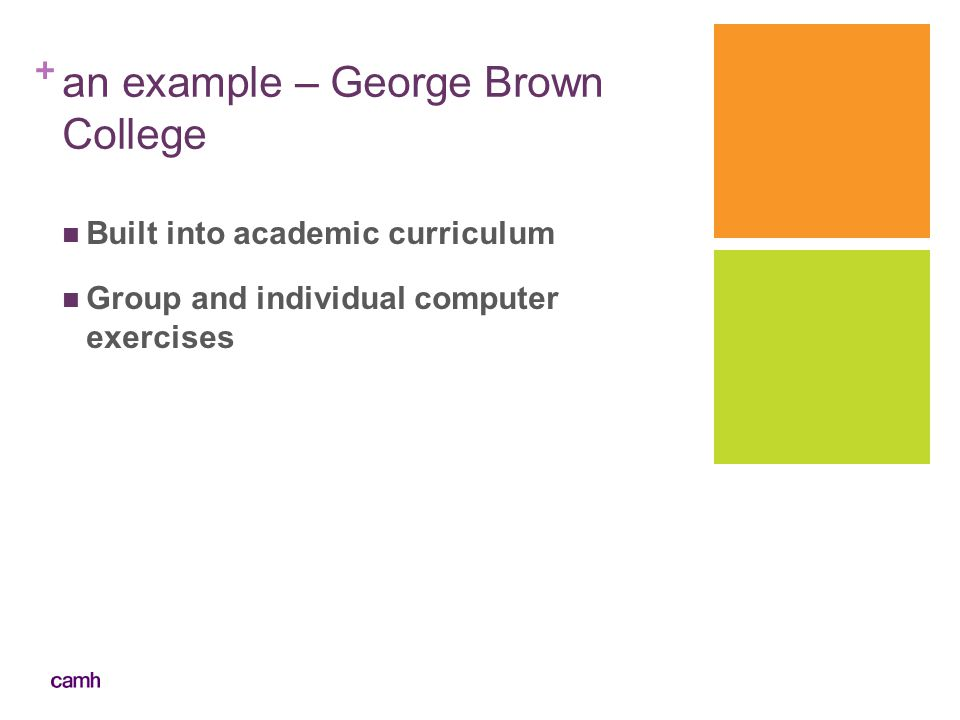 an example – George Brown College