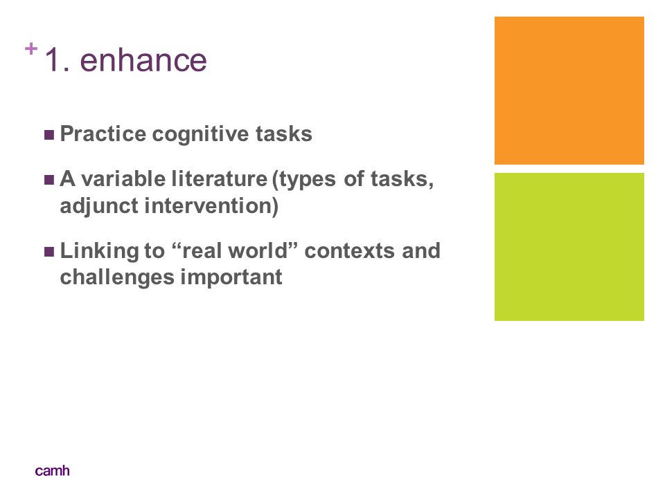 1. enhance Practice cognitive tasks