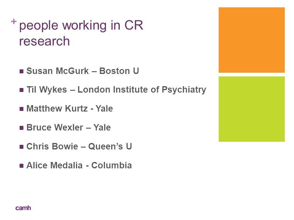 people working in CR research