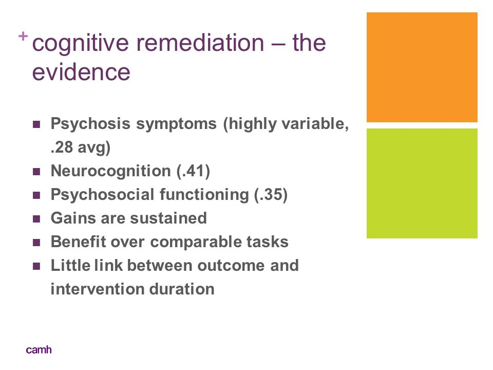 cognitive remediation – the evidence