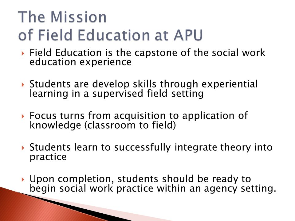The Mission of Field Education at APU