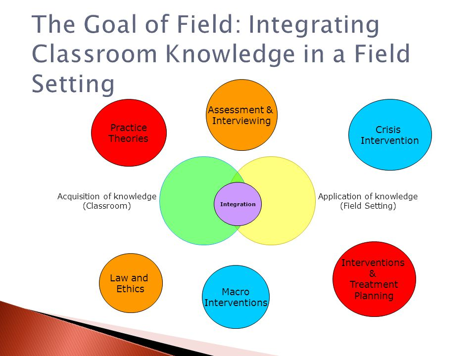 The Goal of Field: Integrating Classroom Knowledge in a Field Setting