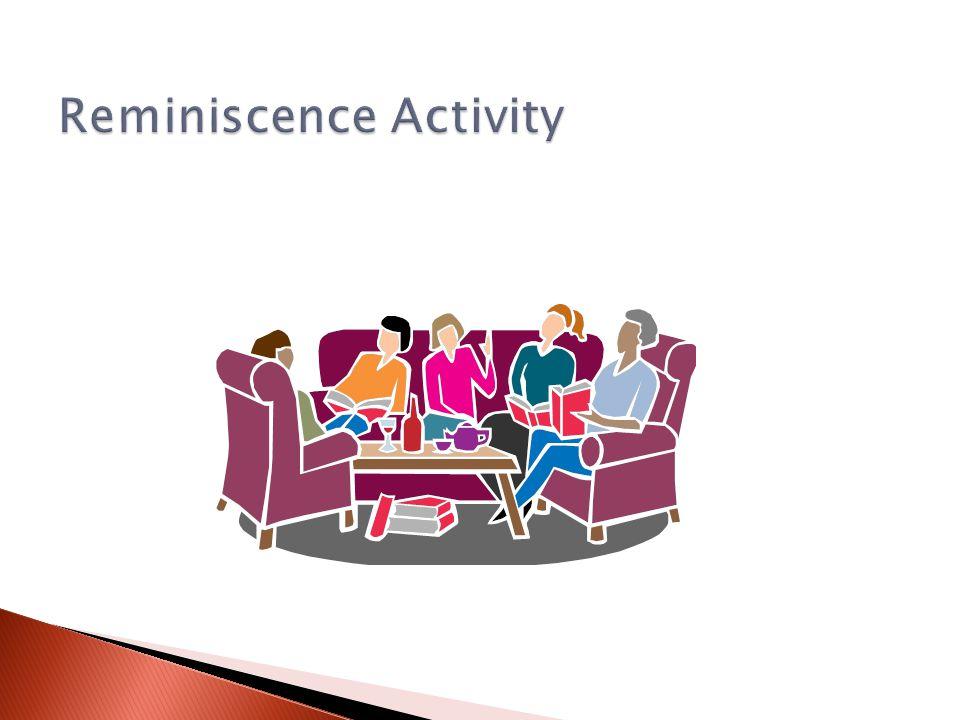 Reminiscence Activity