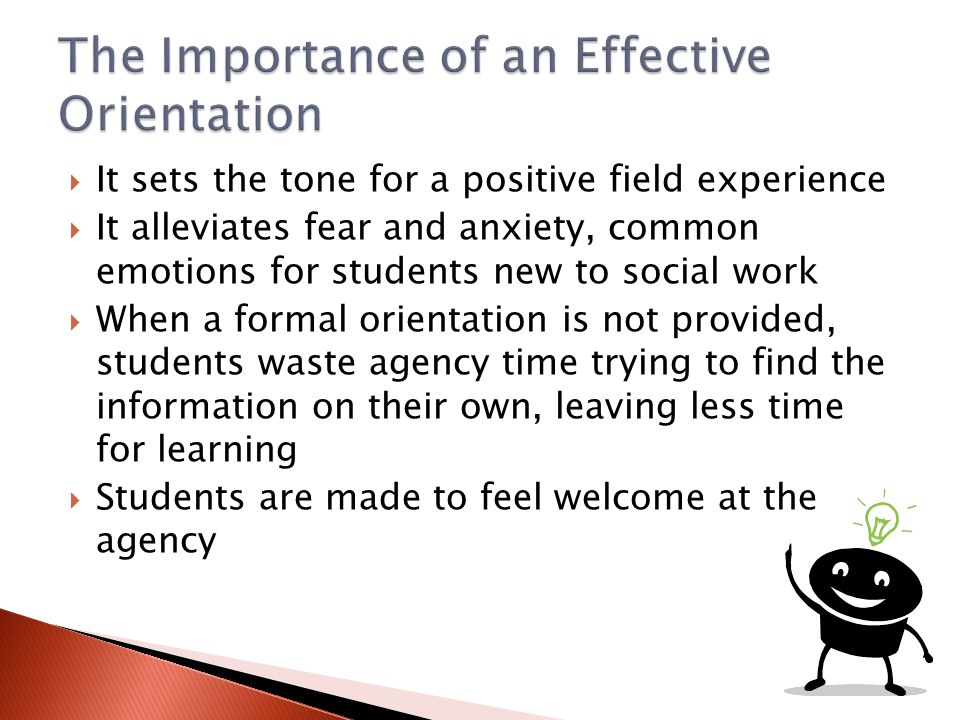 The Importance of an Effective Orientation
