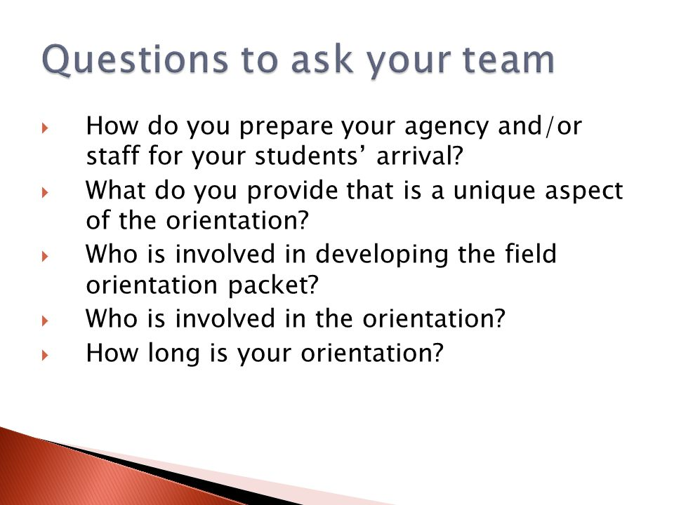 Questions to ask your team