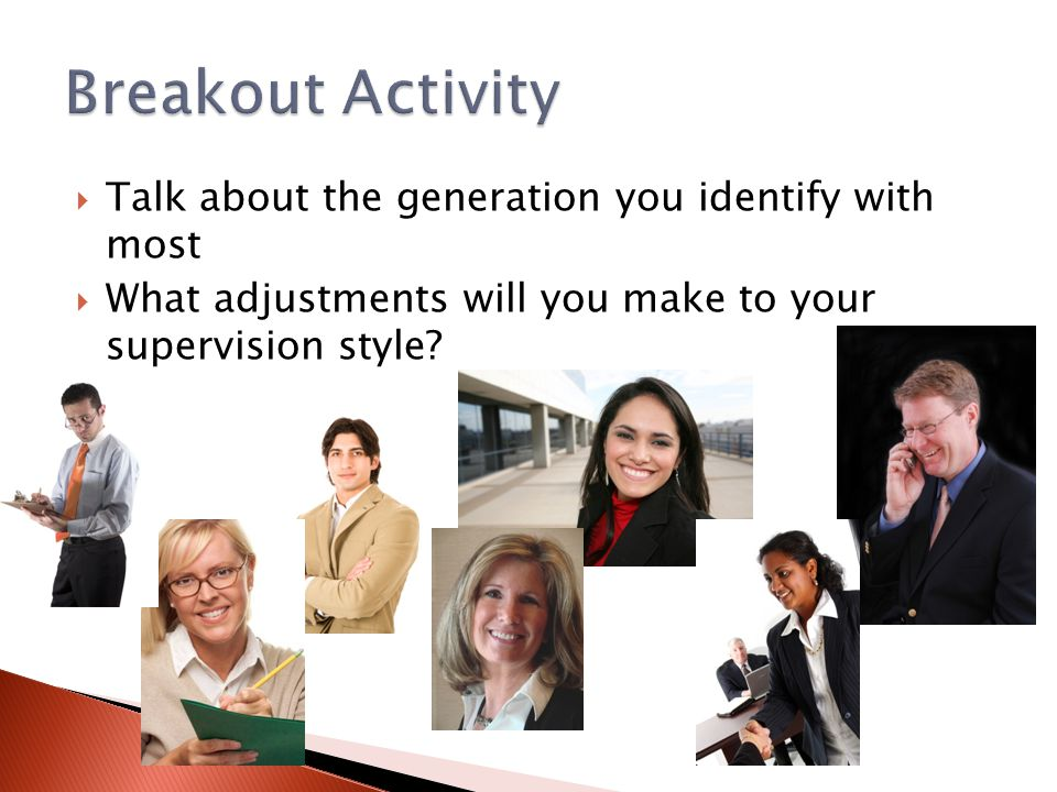 Breakout Activity Talk about the generation you identify with most