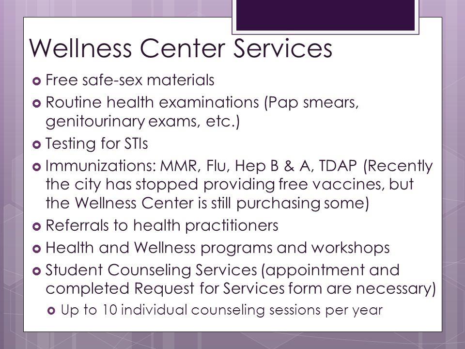 Wellness Center Services