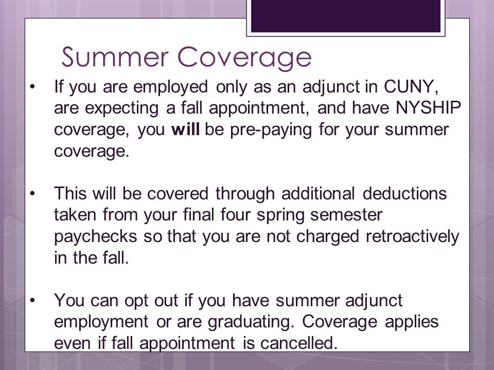 Summer Coverage