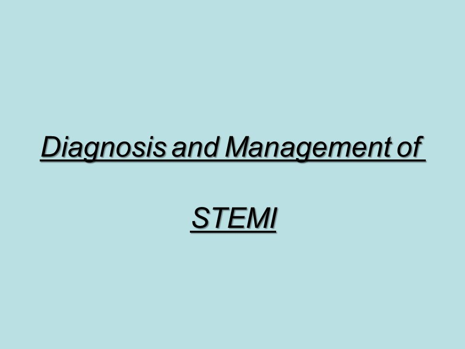 Diagnosis and Management of