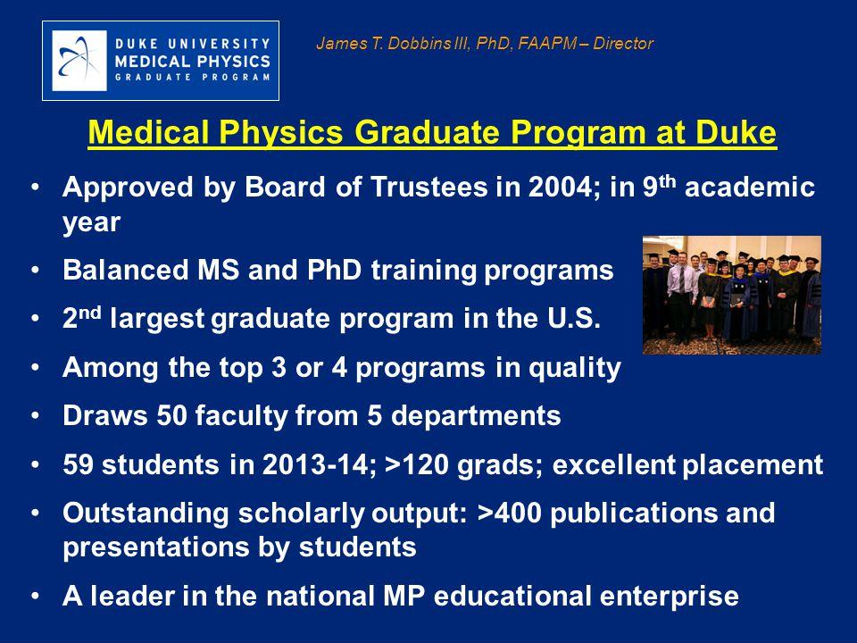 Medical Physics Graduate Program at Duke
