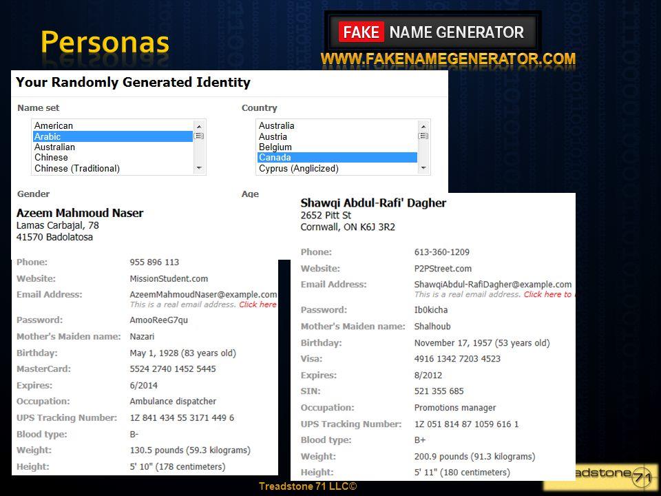 Personas www.fakenamegenerator.com