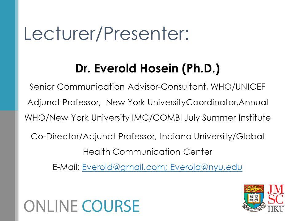 Dr. Everold Hosein (Ph.D.)