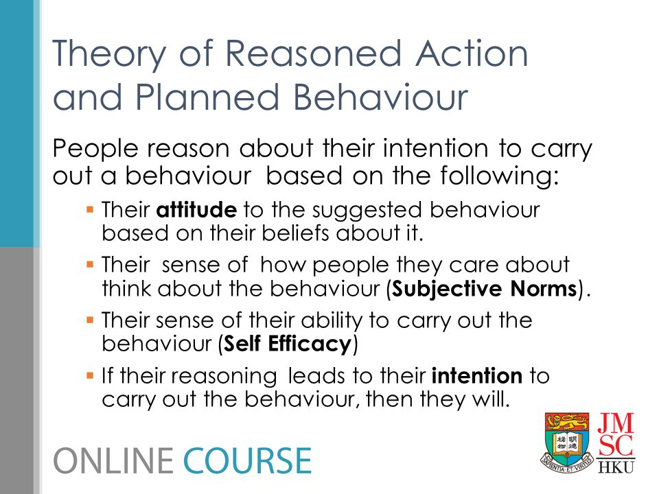 Theory of Reasoned Action and Planned Behaviour