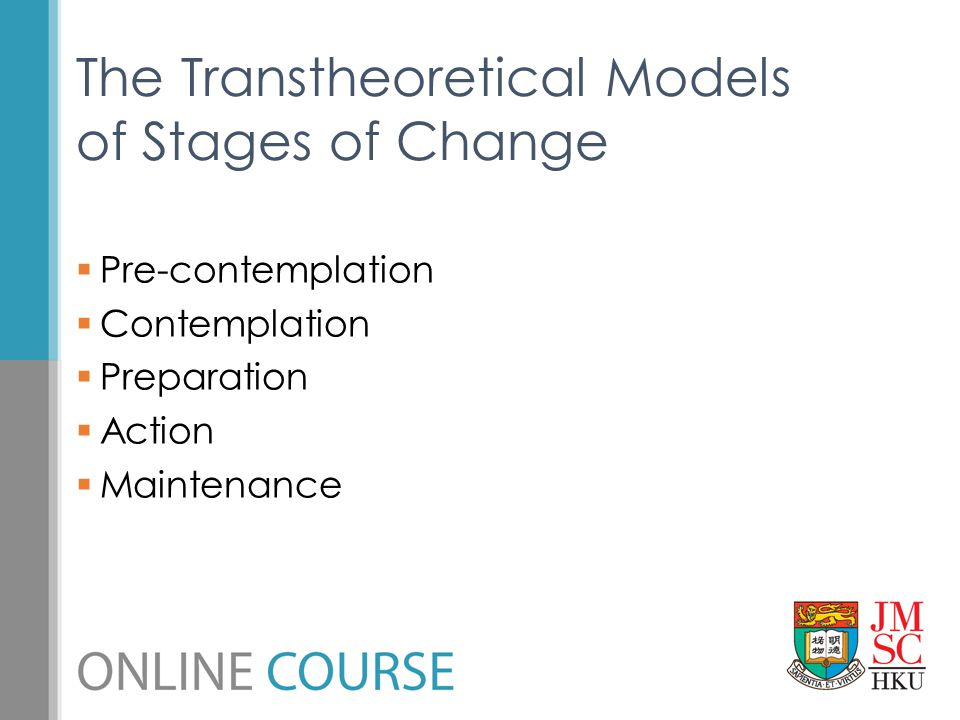 The Transtheoretical Models of Stages of Change