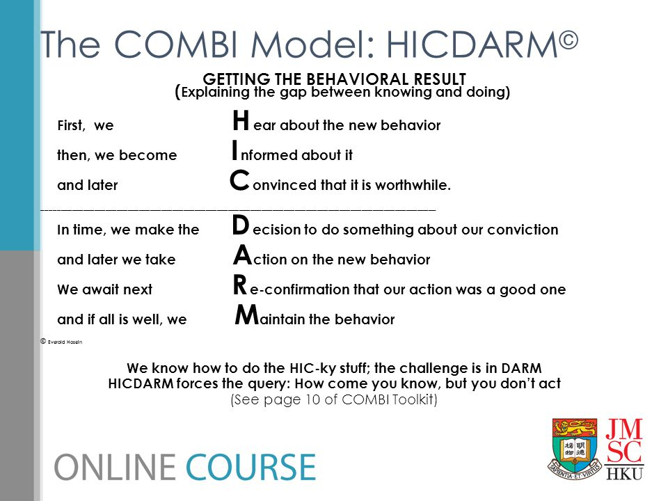 The COMBI Model: HICDARM©