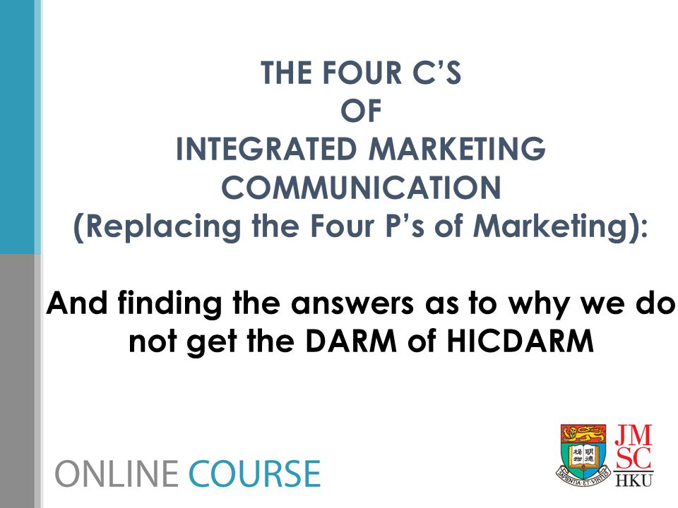 (Replacing the Four P's of Marketing):