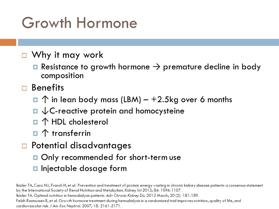 Growth Hormone Why it may work Benefits Potential disadvantages