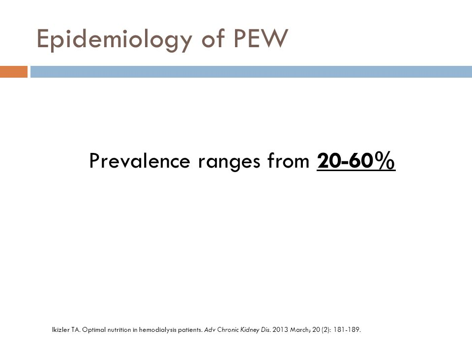 Prevalence ranges from 20-60%