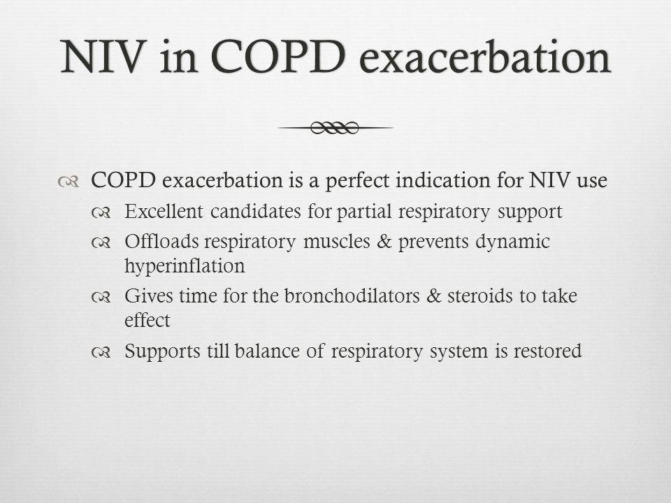 NIV in COPD exacerbation