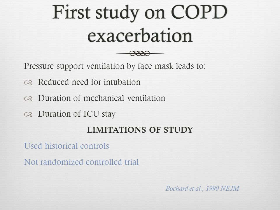 First study on COPD exacerbation