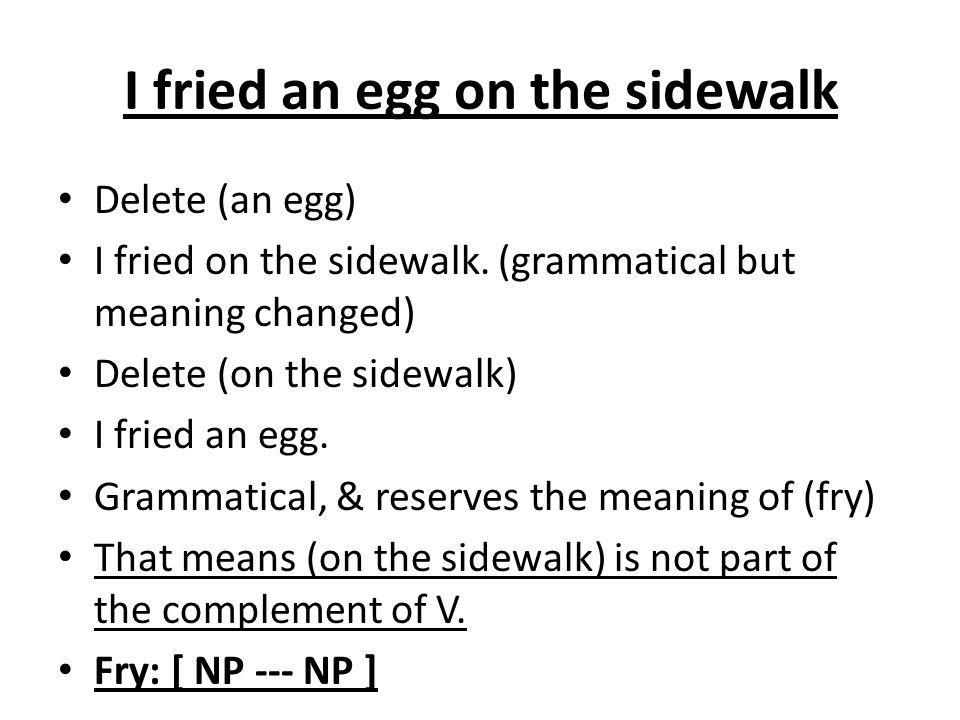 I fried an egg on the sidewalk