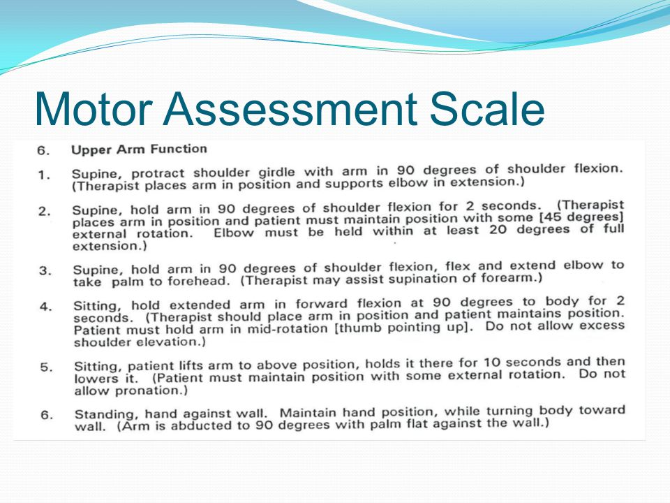 Motor Assessment Scale