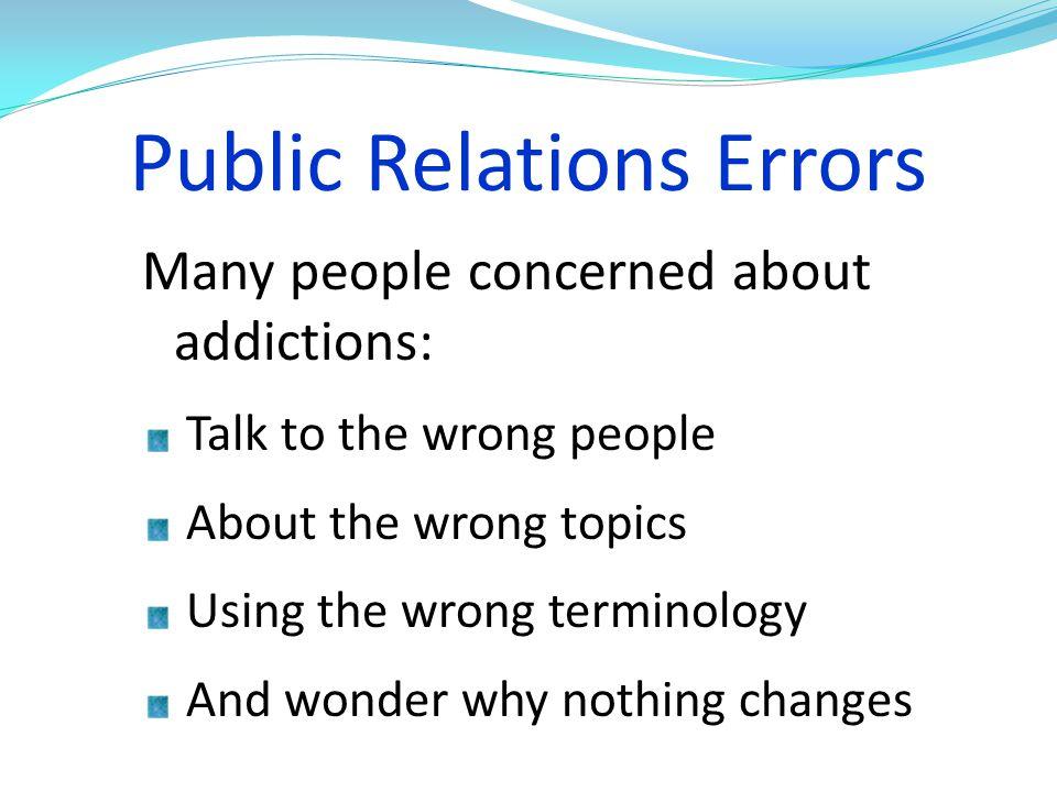 Public Relations Errors