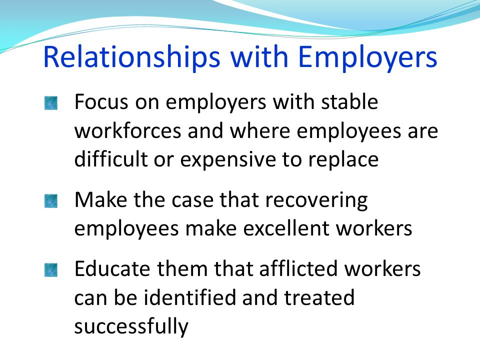 Relationships with Employers
