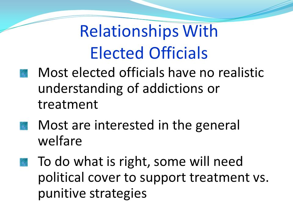 Relationships With Elected Officials