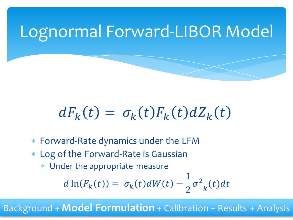 Lognormal Forward-LIBOR Model