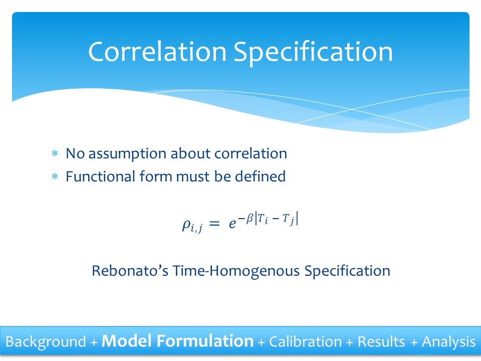 Correlation Specification