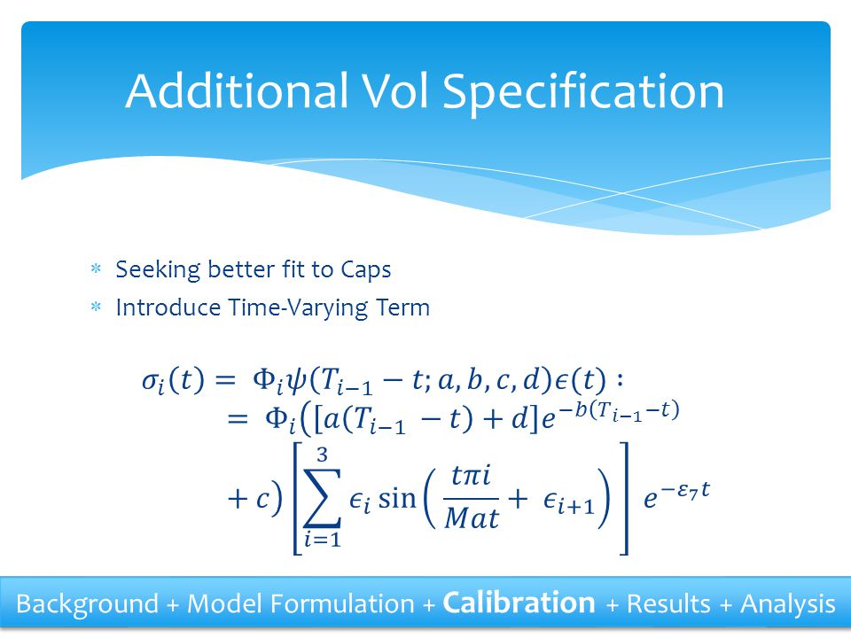 Additional Vol Specification