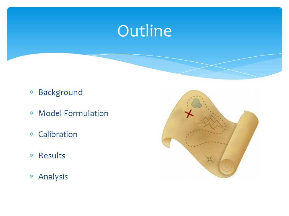 Outline Background Model Formulation Calibration Results Analysis