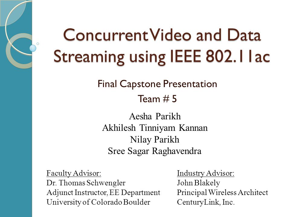 Concurrent Video and Data Streaming using IEEE 802.11ac