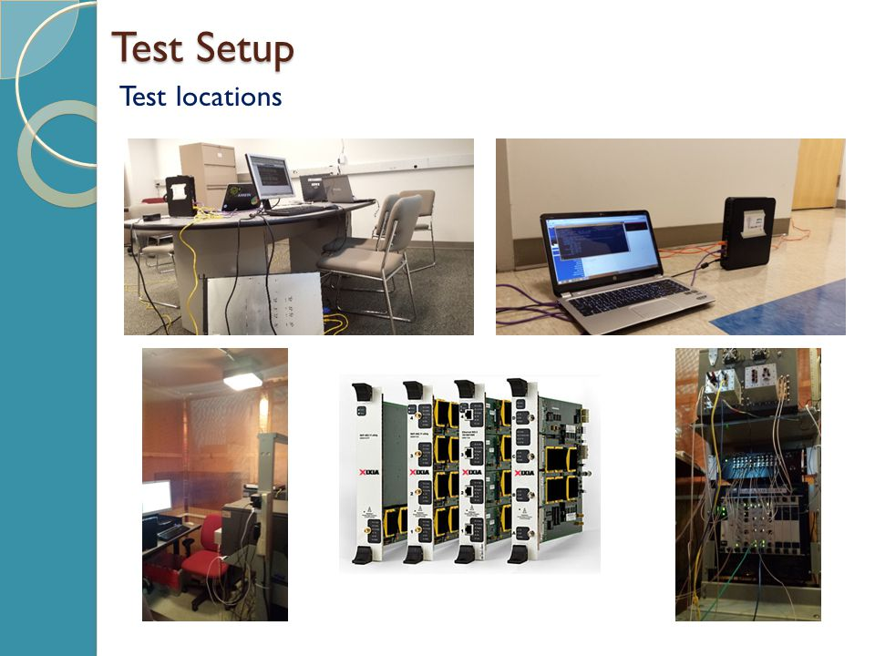 Test Setup Test locations
