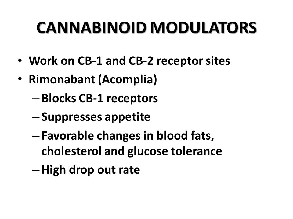 CANNABINOID MODULATORS