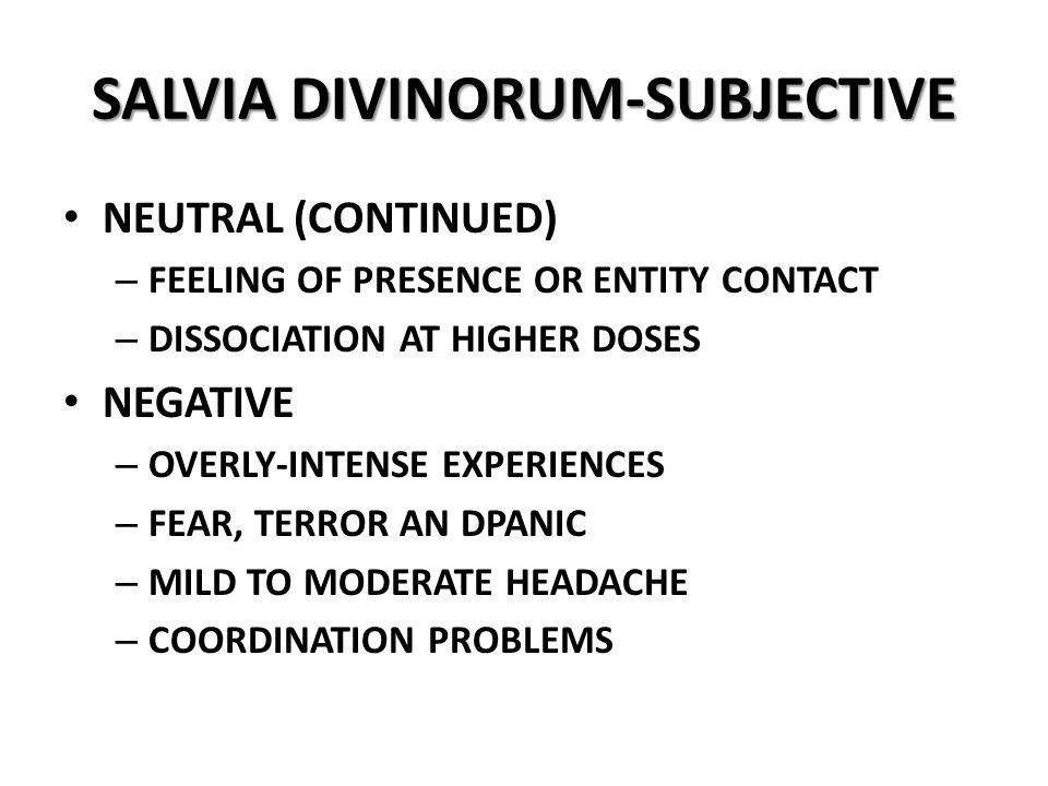 SALVIA DIVINORUM-SUBJECTIVE