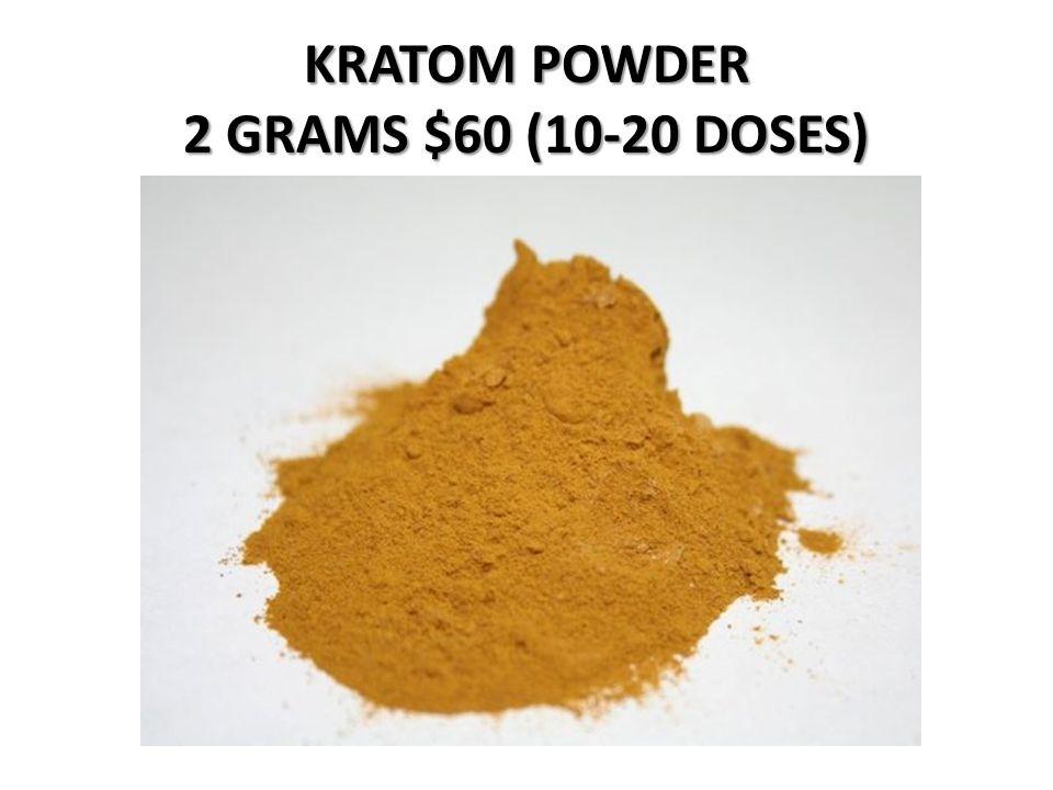 KRATOM POWDER 2 GRAMS $60 (10-20 DOSES)