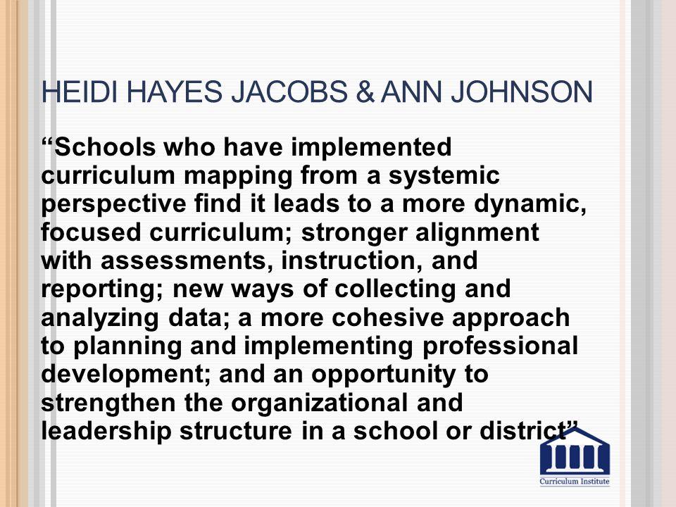 Heidi Hayes Jacobs & Ann Johnson