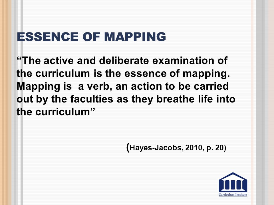 Essence of mapping