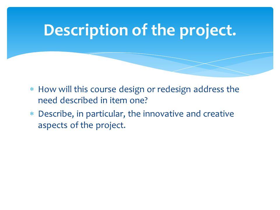 Description of the project.
