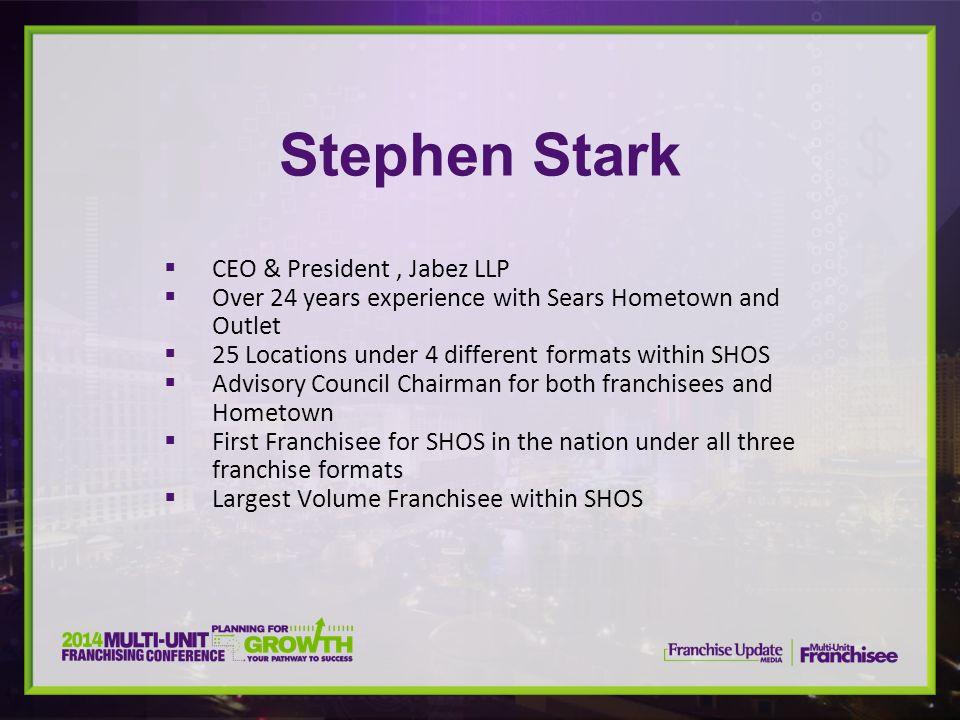 Stephen Stark CEO & President , Jabez LLP