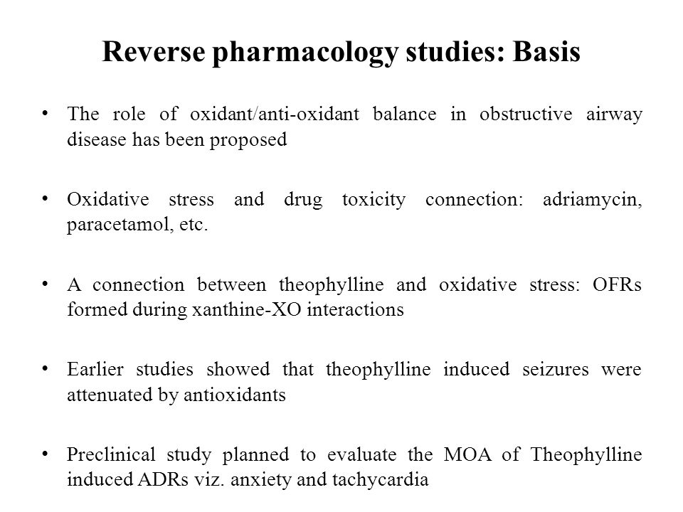 Reverse pharmacology studies: Basis