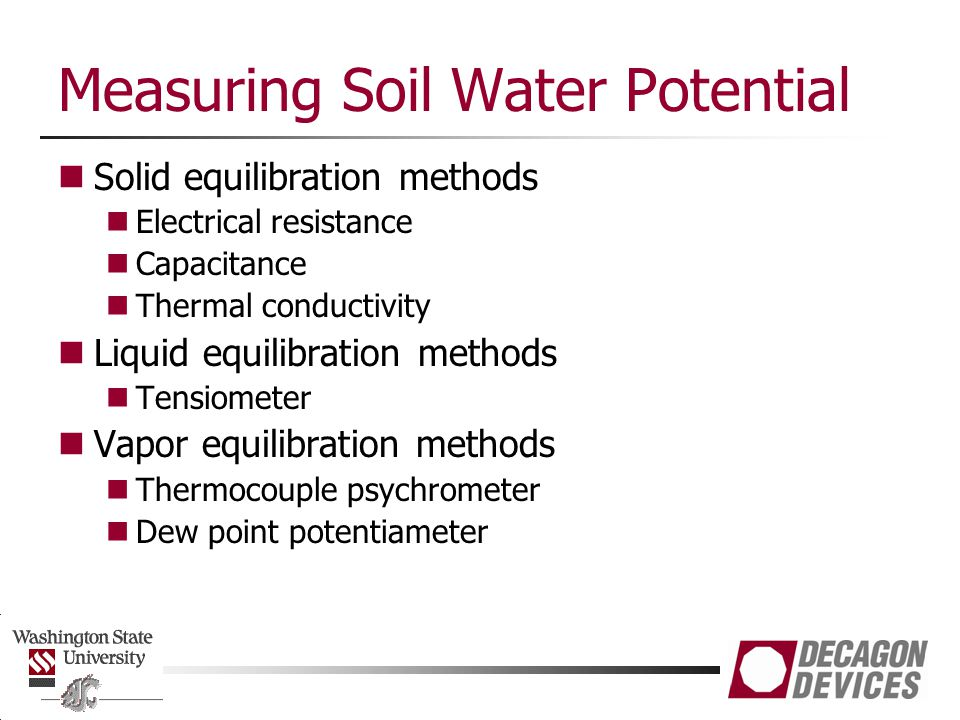 Measuring Soil Water Potential