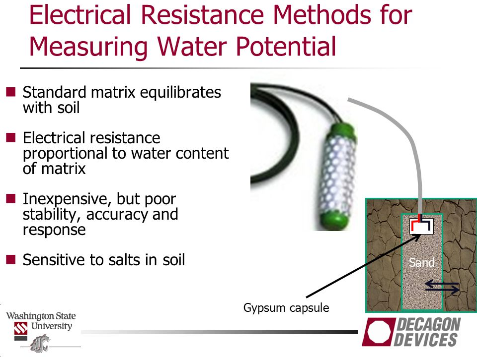 Electrical Resistance Methods for Measuring Water Potential