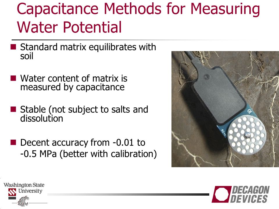 Capacitance Methods for Measuring Water Potential