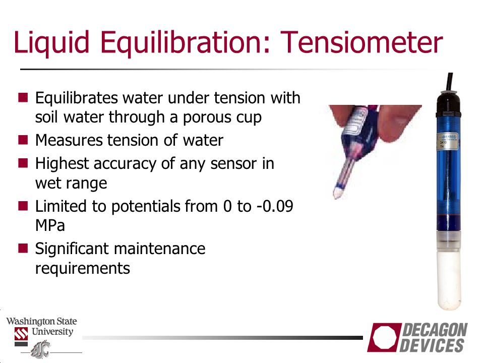 Liquid Equilibration: Tensiometer