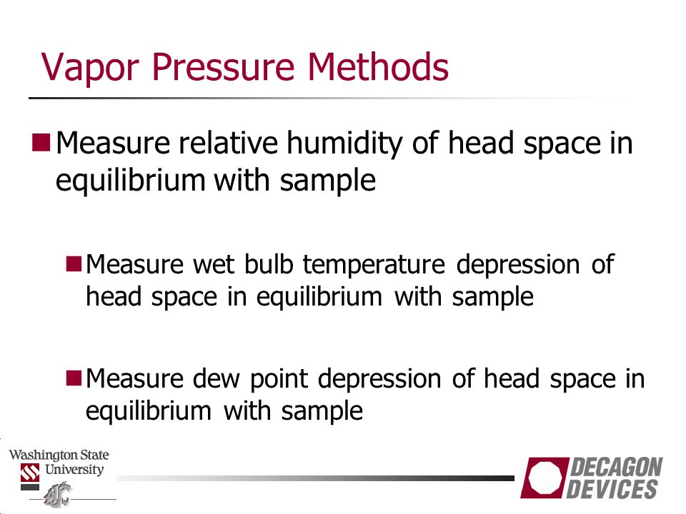 Vapor Pressure Methods