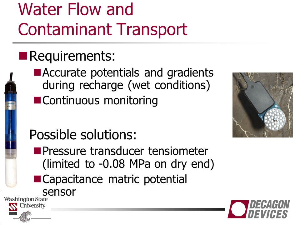Water Flow and Contaminant Transport